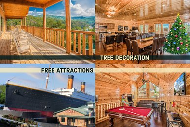 Free Tickets | 5bed/5bath Upscale Cabin W/media Room, Pool Table &  Hot Tub