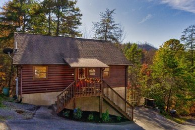 1 Bedroom, 1 Bath Deluxe Cabin For 4. Easy To Access, Mountain View & Pool Table