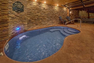 Private Indoor Pool Cabin With Outdoor Living Area, Game Room, Theater Room