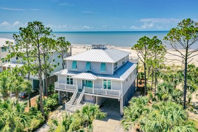 Stunning beachfront home on Indian Pass, with hot tub and private boardwalk