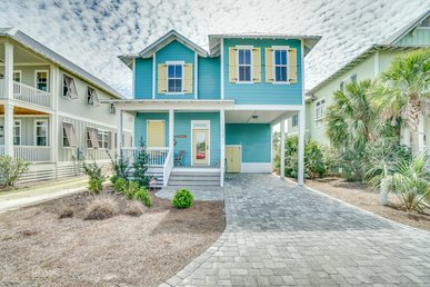 Newly Built Gulf-View Home in Jubilation with Designer Furnishings and Pool Access