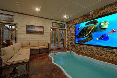 Indoor Pool Cabin With Interactive Game Center, Outdoor Living, Putt Putt