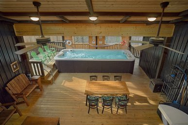 Overlooking Ski Mountain With Private Pool Swim Spa And Amazing Game Room