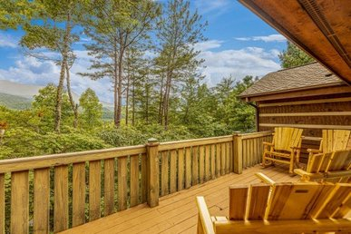 A 3 Bedroom, 2.5 Bath, Luxury Cabin For 11 With Rustic Touches. Semisecluded.