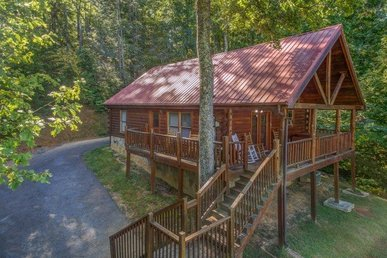 2 Bedroom, 2 Bath, Pet-friendly Cabin With A View, A Hot Tub, & In A Resort.