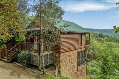 1 Bedroom, 1 Bath Deluxe Cabin For Six, Semi-secluded With A Mountain View.