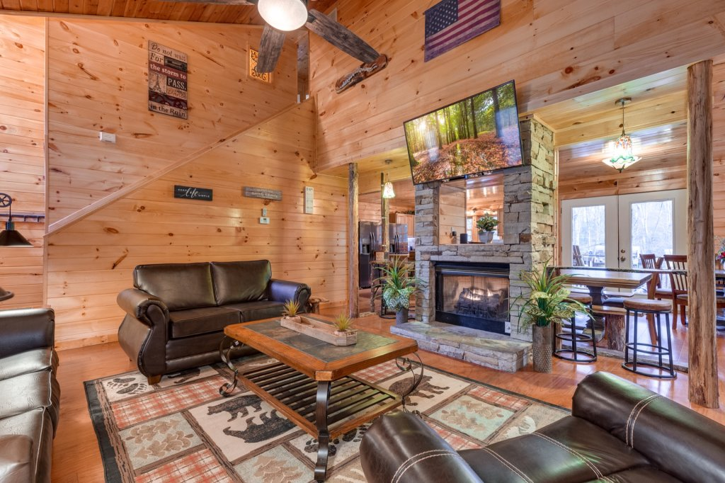 Photo of a Gatlinburg Cabin named Luxury Mountain Lodge - This is the third photo in the set.