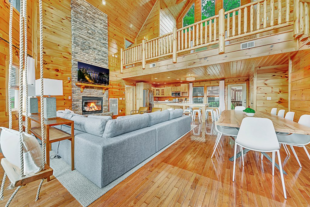 Photo of a Sevierville Cabin named One In A Million - This is the second photo in the set.